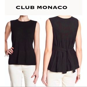 Club Monaco Wool Sleeveless Sweater Bow Tie Top